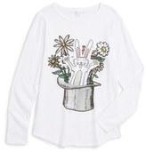 Stella McCartney Toddler Girl's 'Barley - Rabbit' Long Sleeve Graphic T-Shirt