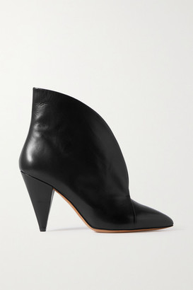 Isabel Marant Arfee Leather Ankle Boots - Black