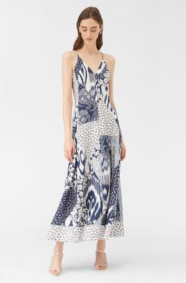 Rebecca Taylor Skye Mosaic Silk Tank Dress