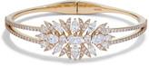Nadri Liv Leaf Mixed Cut Hinge Bracelet