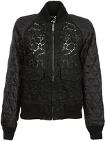 Sacai Black Navy Lace Blouson