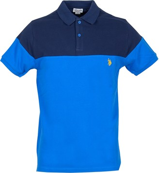 U.S. Polo Assn. Blue/Bluette Pique Cotton Men's Polo Shirt