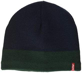 Levi's Men's Fleece Lined Beanie,One (Size: UN)