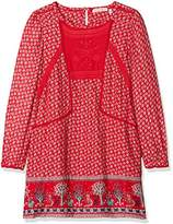 Fat Face Girl's Isla Embroidered Print Dress,(Manufacturer Size: 10-11)
