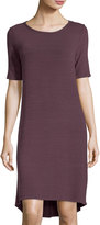 Allen Allen Half-Sleeve High-Low Jersey Dress