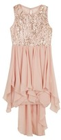 Amy Byer Girls 7-16 Party Formal Dressy Dress With Gold Sequin Bodice