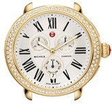 Michele 'Serein' Diamond Gold Plated Watch Case, 40mm x 38mm