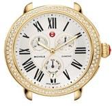 Michele Women's 'Serein' Diamond Gold Plated Watch Case, 40Mm X 38Mm