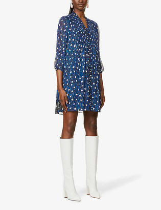 Diane von Furstenberg Layla spot-pattern crepe mini dress