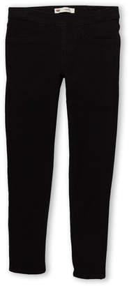 Levi's Girls 7-16) Black Pull On Legging Jeggings