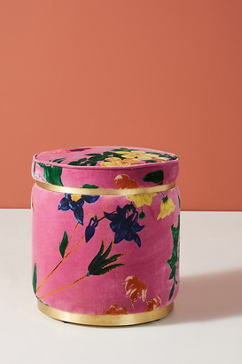 Anthropologie Velvet Floret Stool By in Pink Size ALL