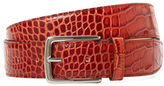 DeSanto Croc Embossed Leather Belt