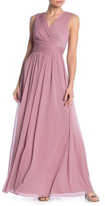 Onyx Nite Surplice Neck Maxi Dress