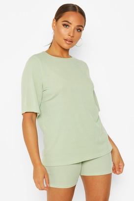 boohoo Oversized T-Shirt & Cycling Short Co-Ord
