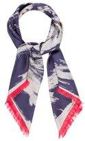 Louis Vuitton Printed Silk Fringed Scarf