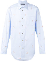 Alexander Wang graphic print shirt - men - Cotton - 46