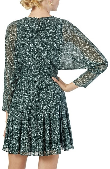 Thumbnail for your product : Joie Garonne Batwing-Sleeve Printed Silk Dress