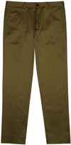 Ps By Paul Smith Dark Olive Stretch Cotton Chinos
