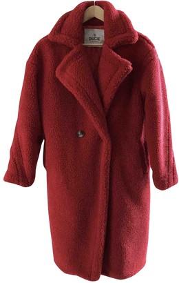 Ducie Red Faux fur Coat for Women