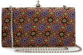Vivienne Westwood Large Parma Clutch Viscose/Silk Bag, Purple/Black