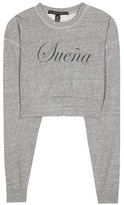 True Religion x Joan Smalls Printed cropped sweatshirt