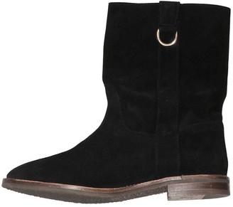 Tila March Black Suede Ankle boots