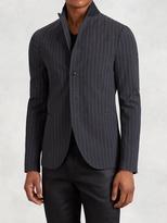 John Varvatos Convertible Collar Stripe Jacket