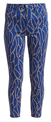L'Agence Women's Margot Chain-Print Skinny Jeans