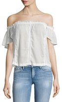 Paige Lucille Off-The-Shoulder Blouse, White