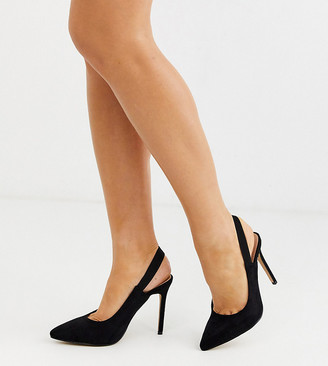 Co Wren wide fit pointed heels in black