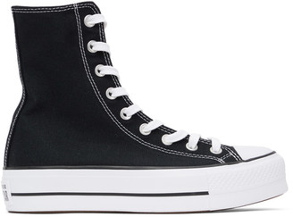 Converse Black Platform Chuck Taylor All Star High Sneakers
