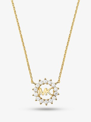 Michael Kors Precious Metal Plated Sterling-Silver Logo Necklace