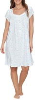 Eileen West Jersey White Botanical Knit Nightgown