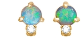 WWAKE Classic Opal Sphere and Diamond Earrings