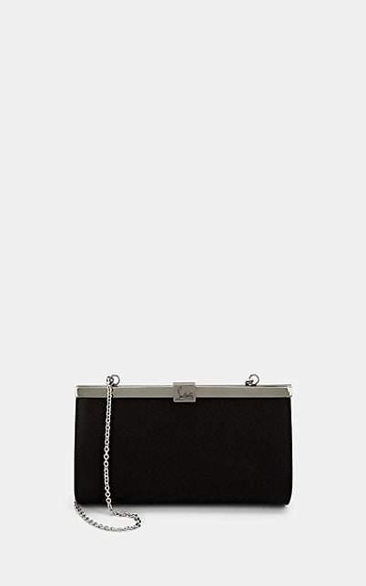 Christian Louboutin Women's Palmette Satin Clutch - Black