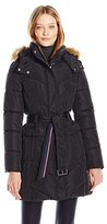 Tommy Hilfiger Women's New Belted Puffer