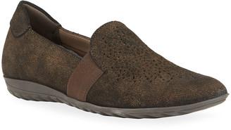 Sesto Meucci Bells Metallic Suede Comfort Loafers