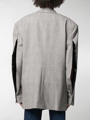 Vetements Checkered Open-Sleeves Jacket