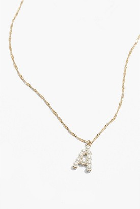 Country Road Initial Pearl Necklace