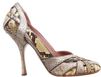 Alaia Brown Snake Skin Pumps Size 38
