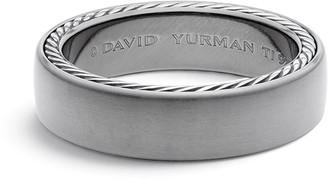 David Yurman Men's Streamline Titanium & Silver Band Ring