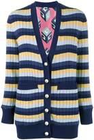 Gucci stripe ribbed cardigan