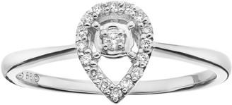 Sterling Silver 1/10 Carat T.W. Diamond Teardrop Promise Ring