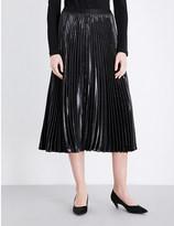 Diane von Furstenberg Heavyn pleated metallic midi skirt