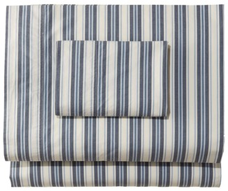 L.L. Bean Sunwashed Percale Sheet Collection, Stripe