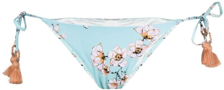 PQ Swim Floral-Print Bikini Bottoms
