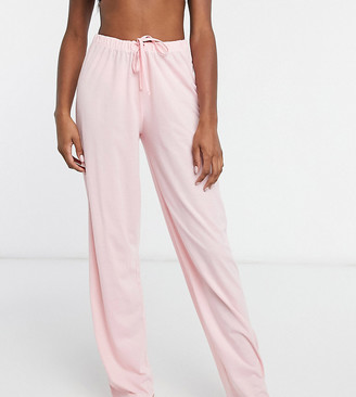 Asos Tall ASOS DESIGN Tall mix & match straight leg jersey pyjama trouser in pink