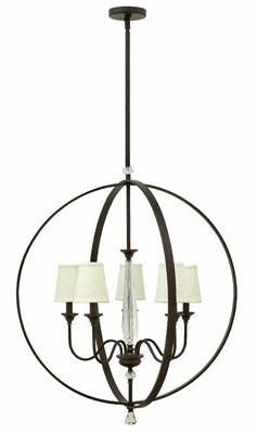 Waverly Hinkley Lighting 5 - Light Shaded Globe Chandelier with Crystal Accents Hinkley Lighting