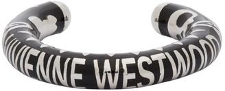 Vivienne Westwood Black and Silver Lazarus Ring