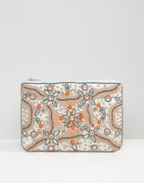 True Decadence Embellished Zip Top Pouch